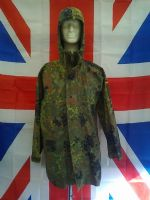 EX ARMY MILITARY GERMAN GREEN CAMO GORTEX JACKET WITH HOOD